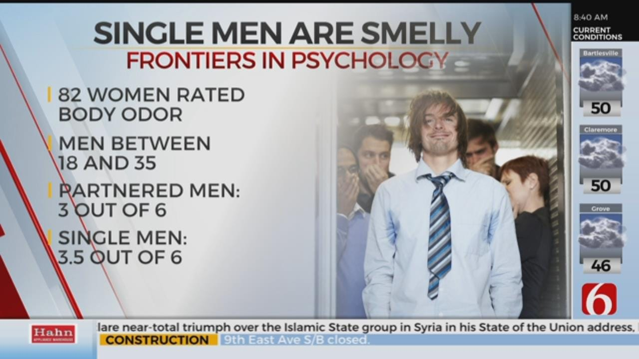Single Men Are Stinkier, Study Says