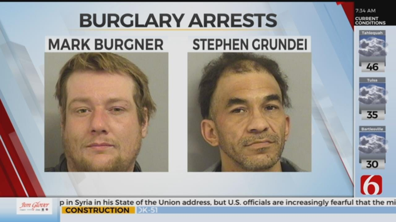 Tulsa Burglary Suspects Arrested After Seen On Security Cameras
