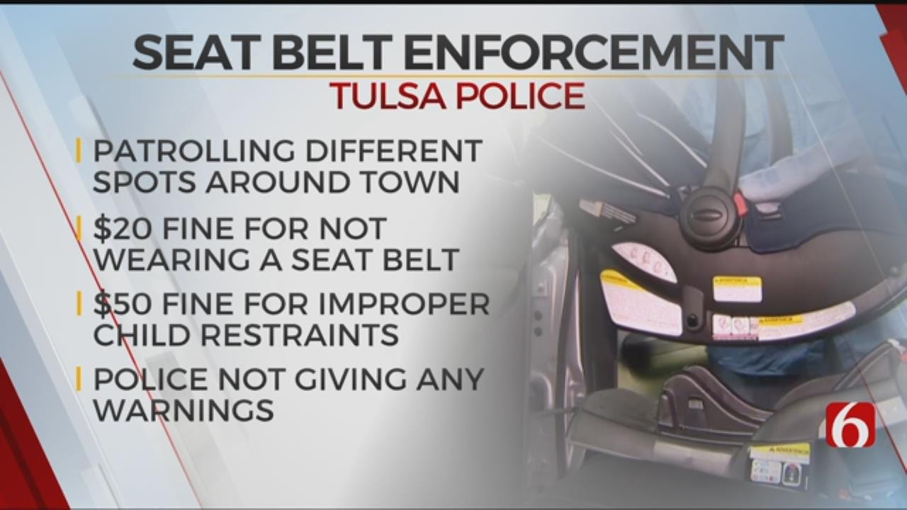 Tulsa Police On Lookout For Drivers Not Wearing Seat Belts