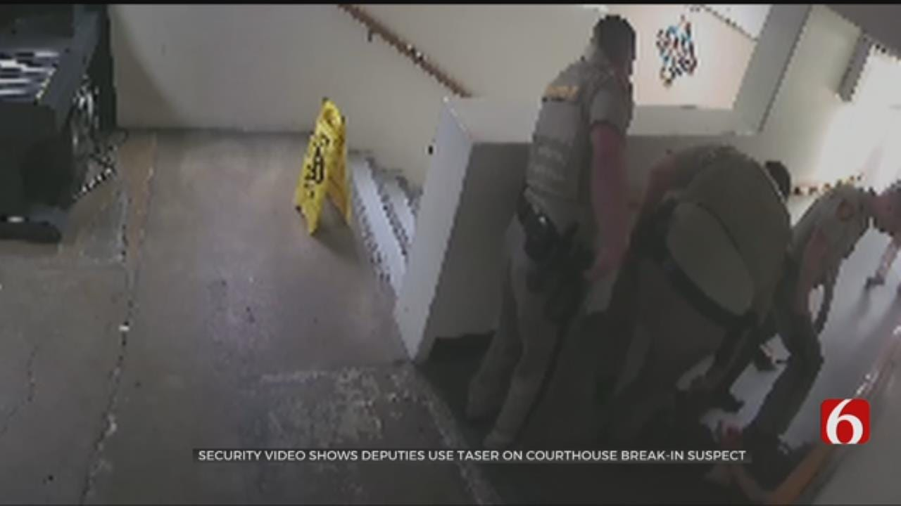 Man Tased On Camera After Breaking Into Tulsa County Courthouse