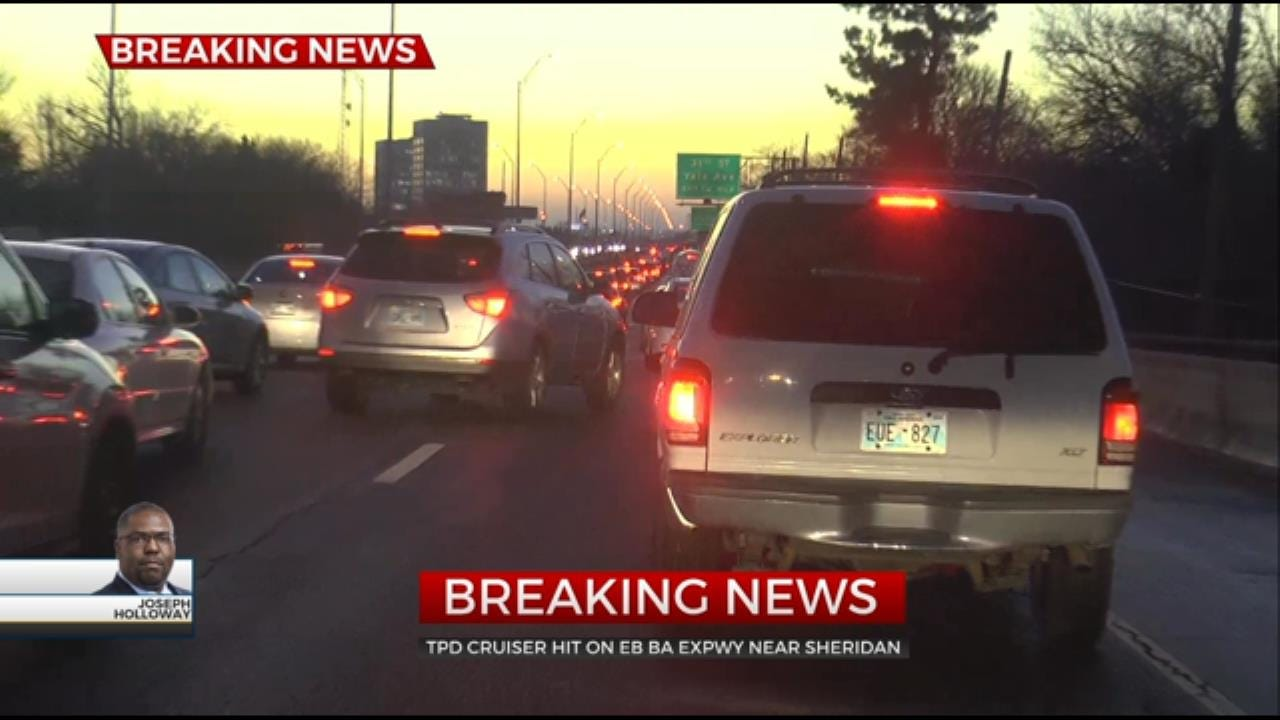Tulsa Police Squad Car Hit By Vehicle