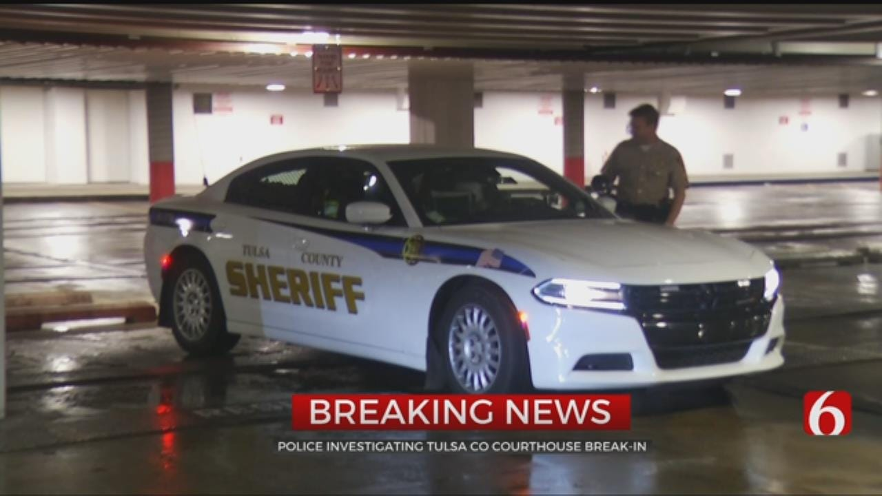 Authorities Investigate Break-In At Tulsa County Courthouse