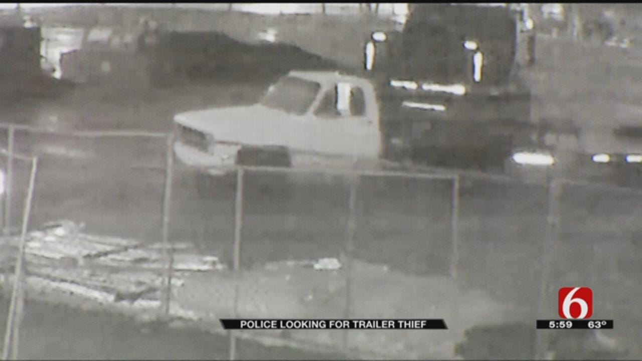 Tulsa Police Searching For Stolen Trailer