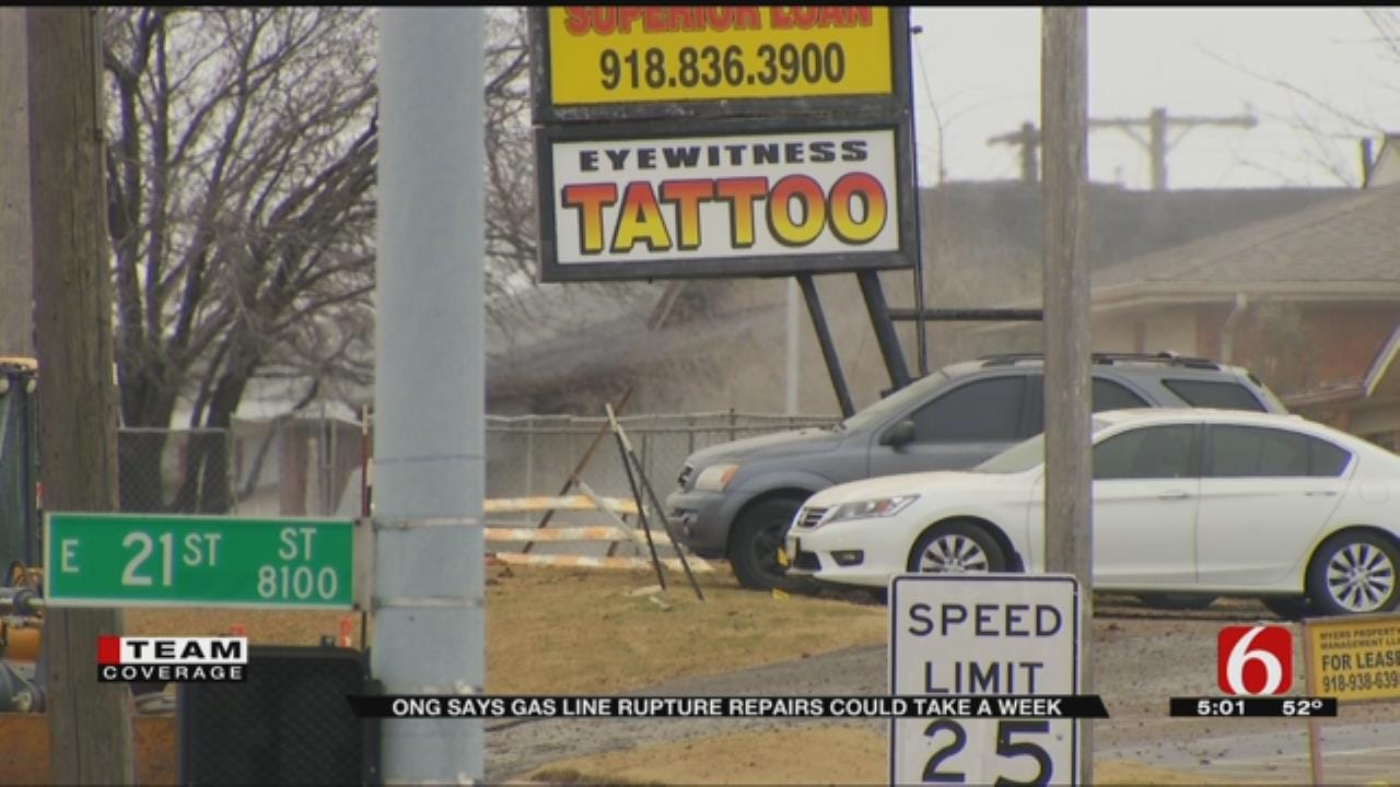 Business Owners Clean Up After Tulsa Gas Line Explosion