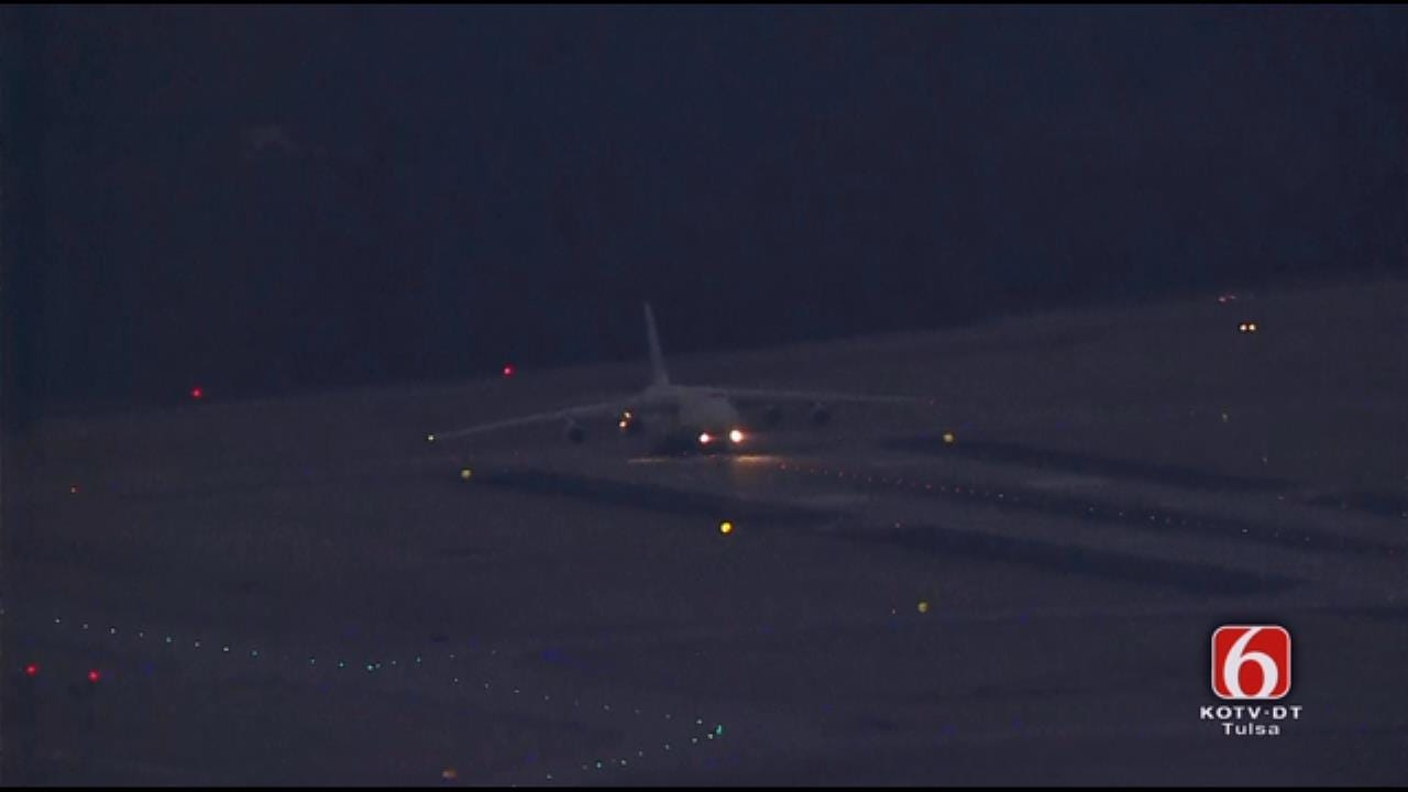 Giant Ukrainian Cargo Jet Takes Off From Tulsa Airport