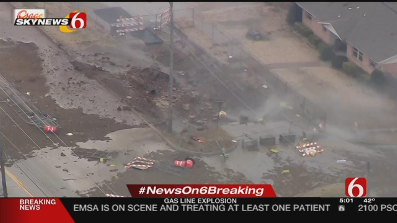 Gas Line Rupture Impacts Tulsa Businesses, Neighborhoods