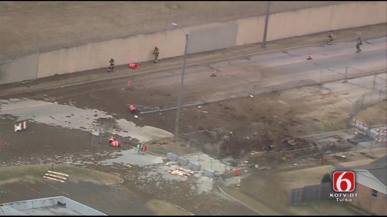 WATCH: Emergency Crews Respond To Tulsa Gas Line Explosion