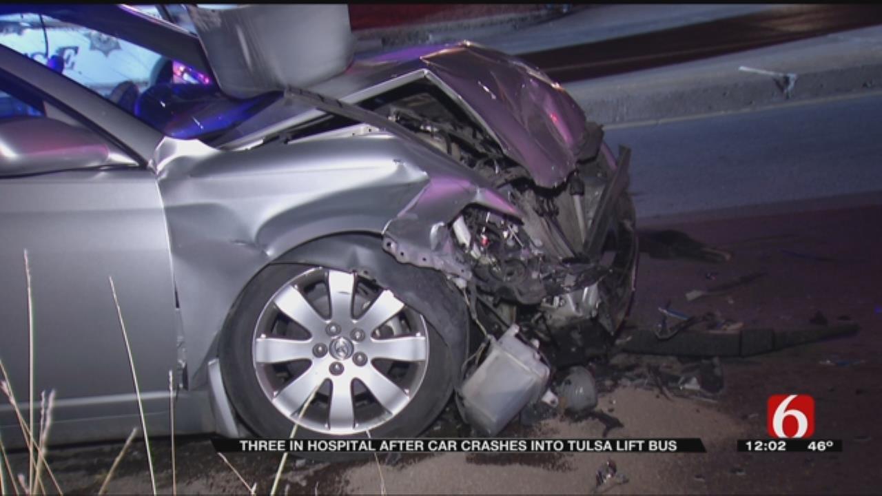 Tulsa Driver Crashes Into Bus