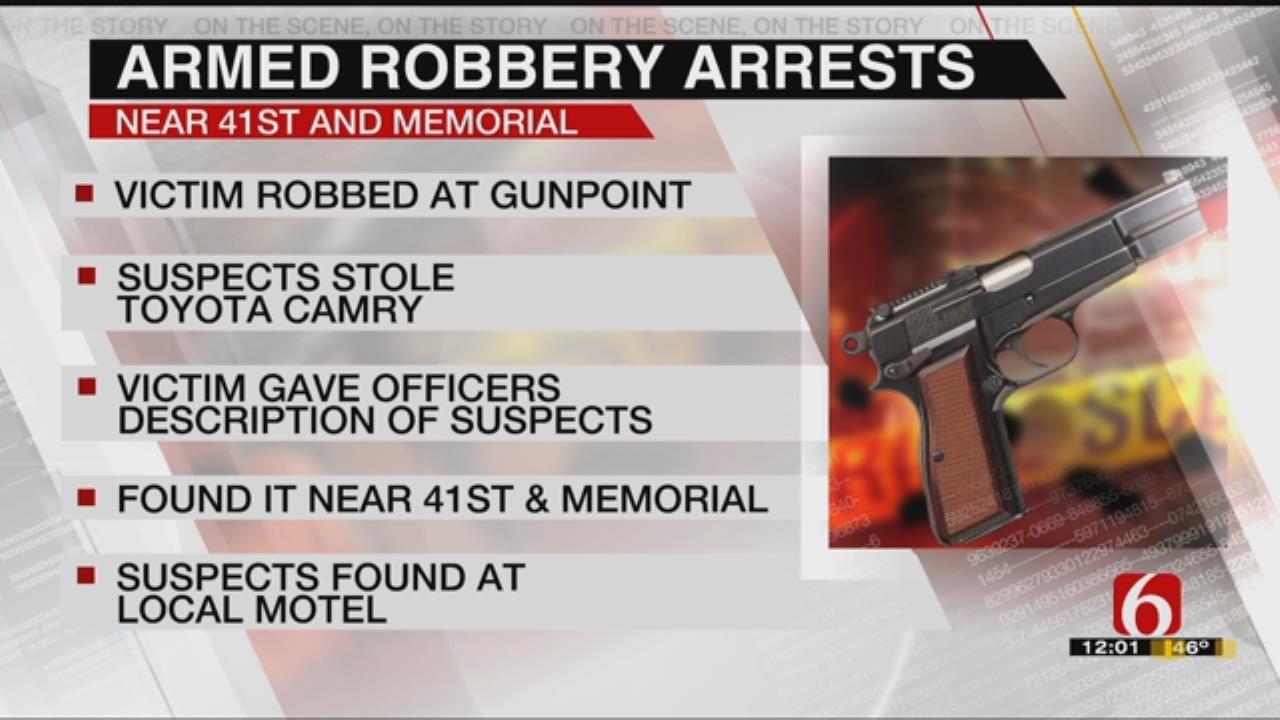 2 Arrested For Kidnapping, Carjacking Tulsa Man
