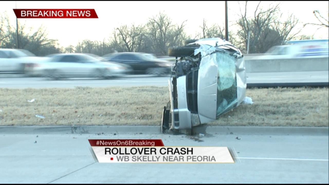 1 Injured In Rollover Wreck In Tulsa