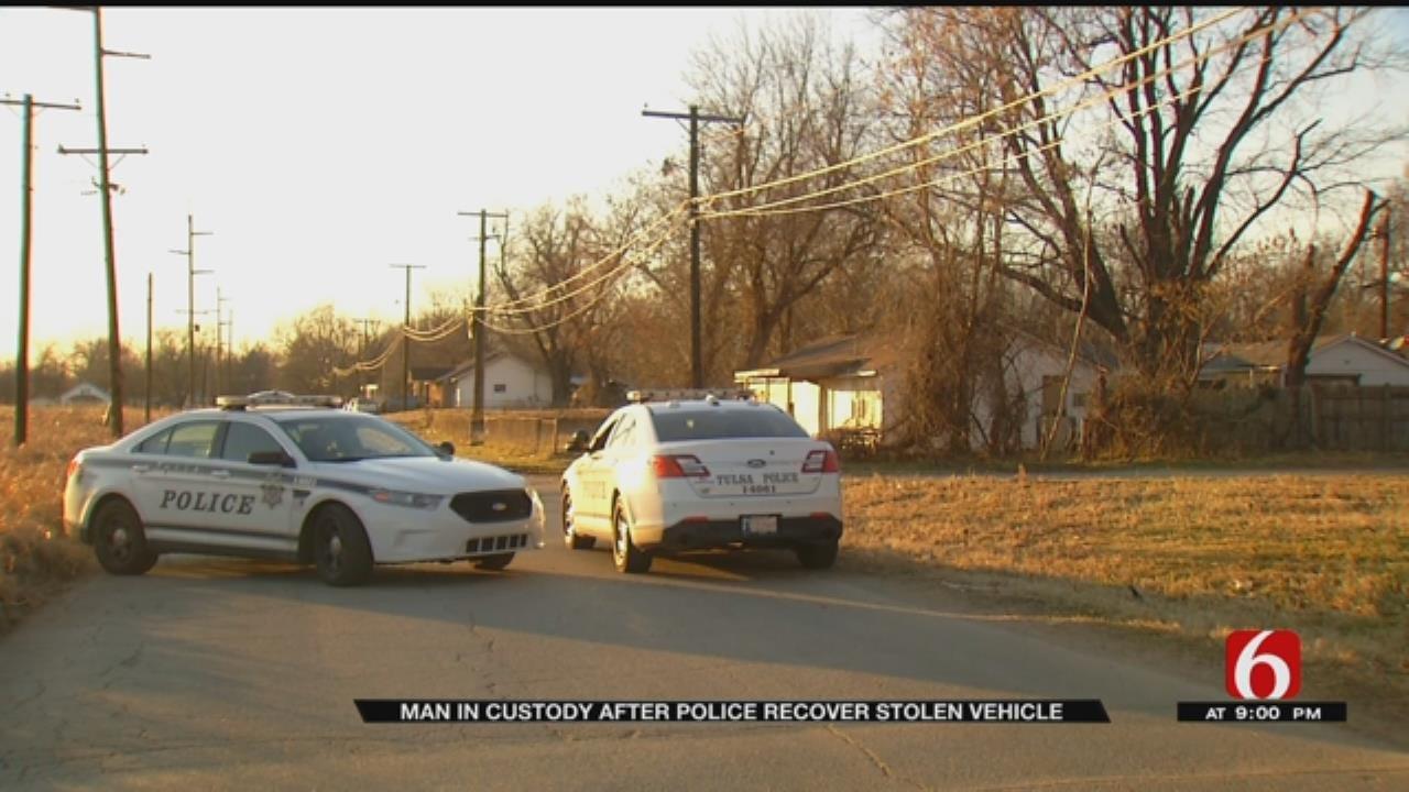 Tulsa Police Recover Stolen Vehicle Outside Tulsa Home