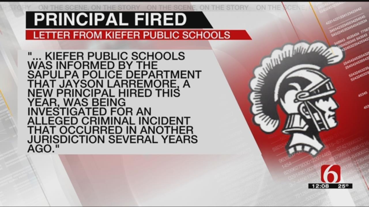 Kiefer Principal Fired Over Criminal Investigation