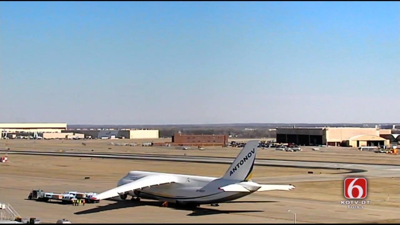 Giant Ukrainian Cargo Planes Dwarfs Other Aircraft At TIA