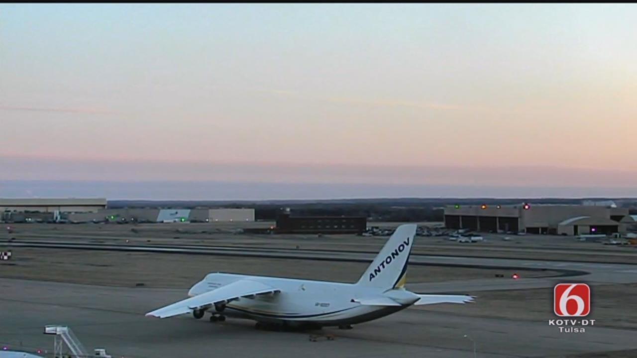 Giant Ukrainian Cargo Jet Visits Tulsa