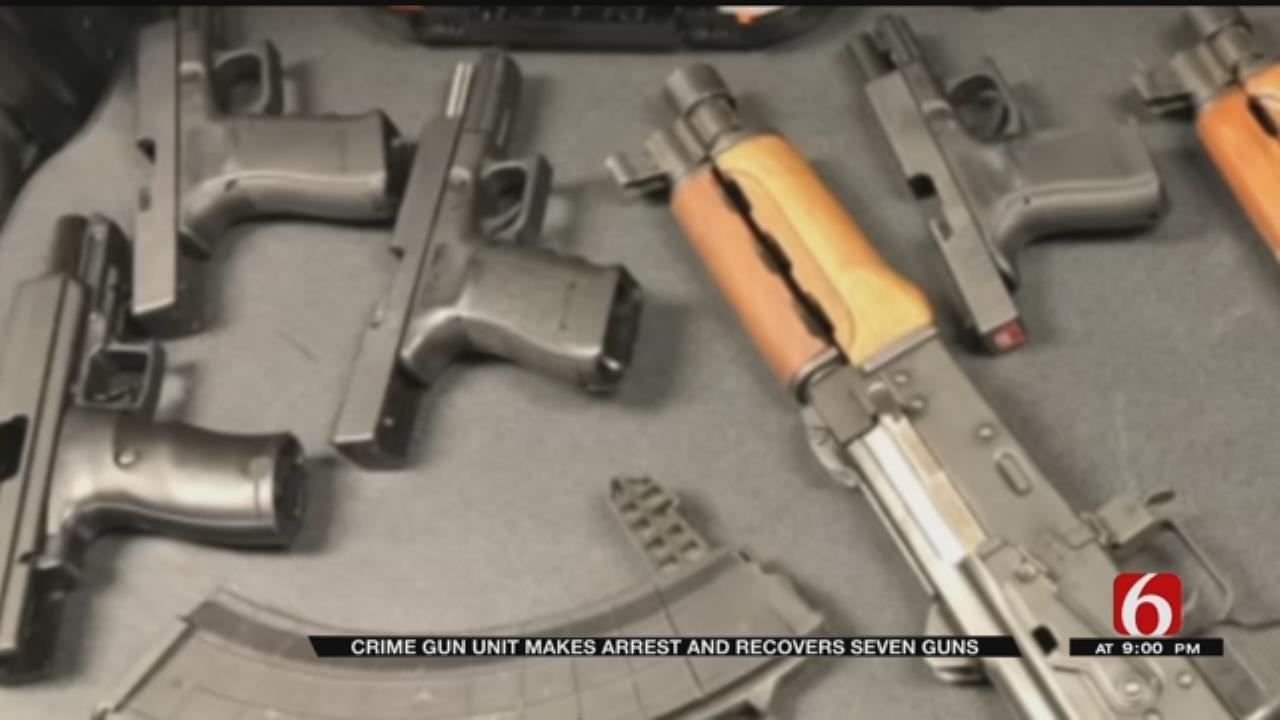 Tulsa's Crime Gun Unit Seizes 7 Guns During Gang Related Arrest