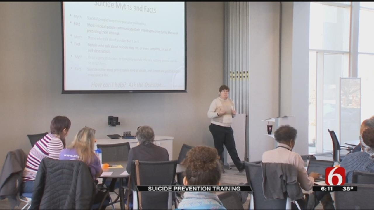 Mental Health Association Holds Suicide Prevention Training In Tulsa