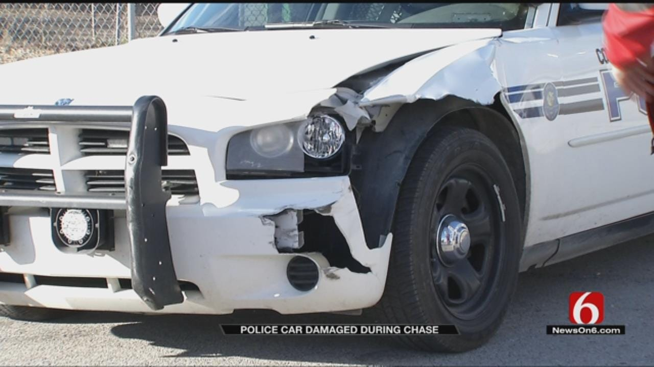 Coweta Police Searching For Suspect Who Rammed Police Car