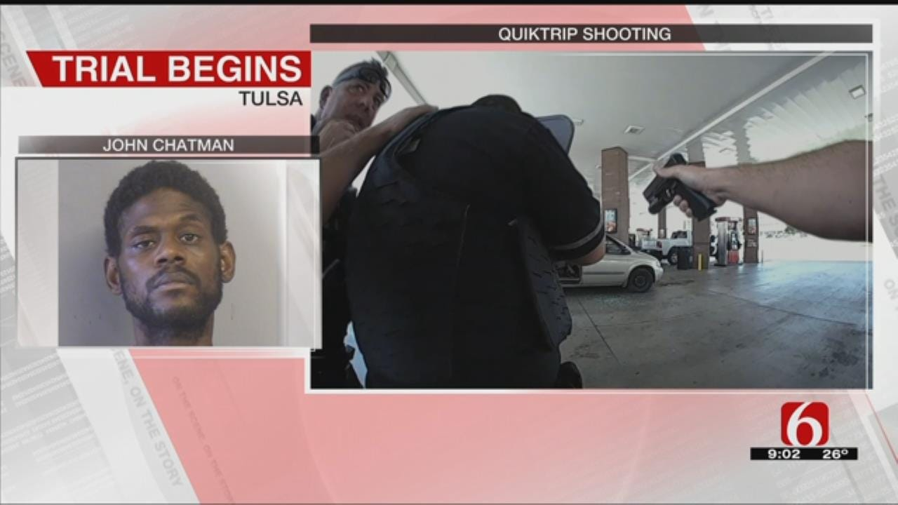 Trial Continues For Man Charged With Shooting A Tulsa Police Officer