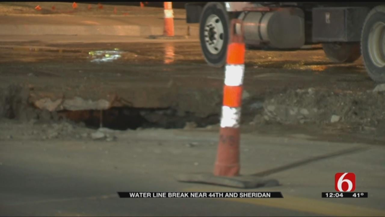 Broken Water Main On Tulsa Street Repaired
