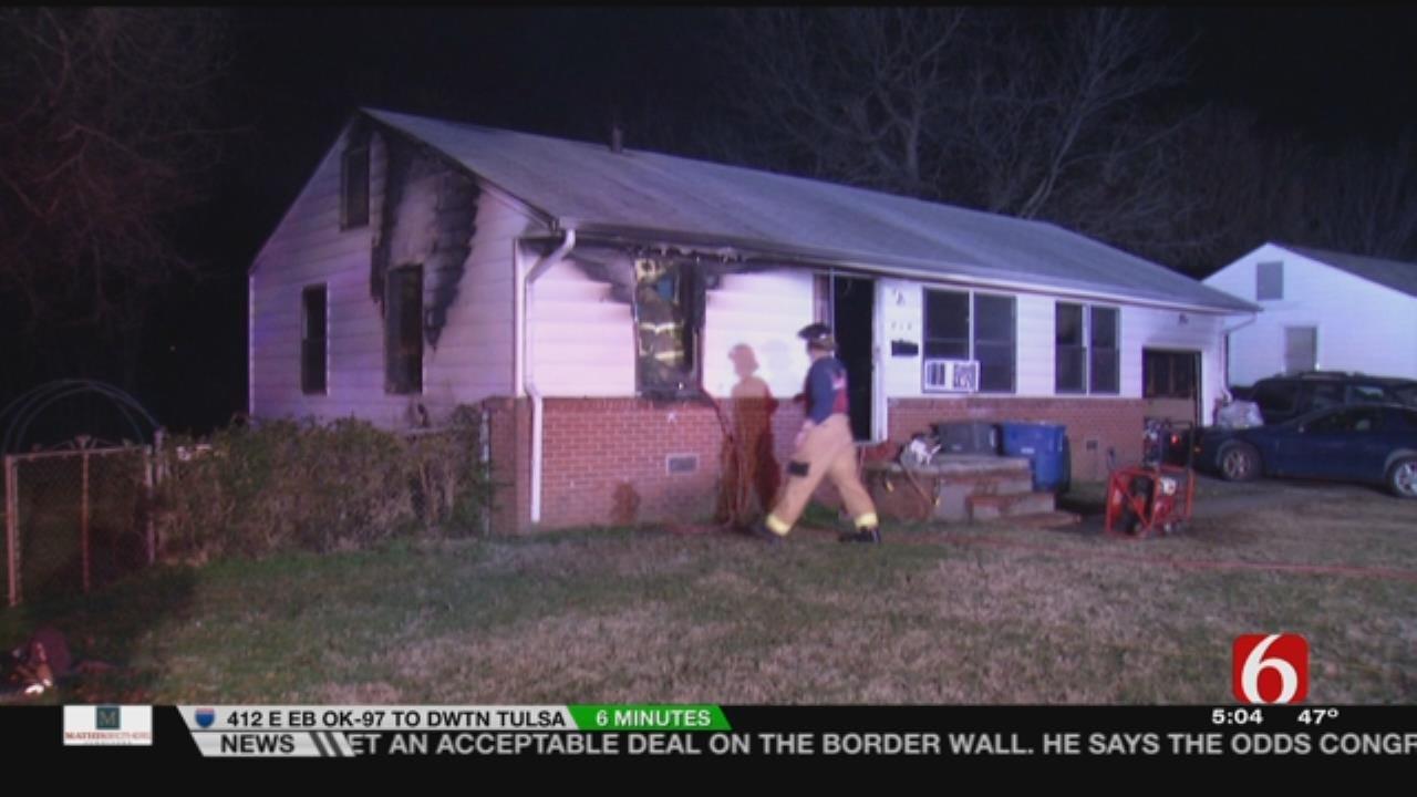 Woman Hurt When Fire Damages Tulsa Home