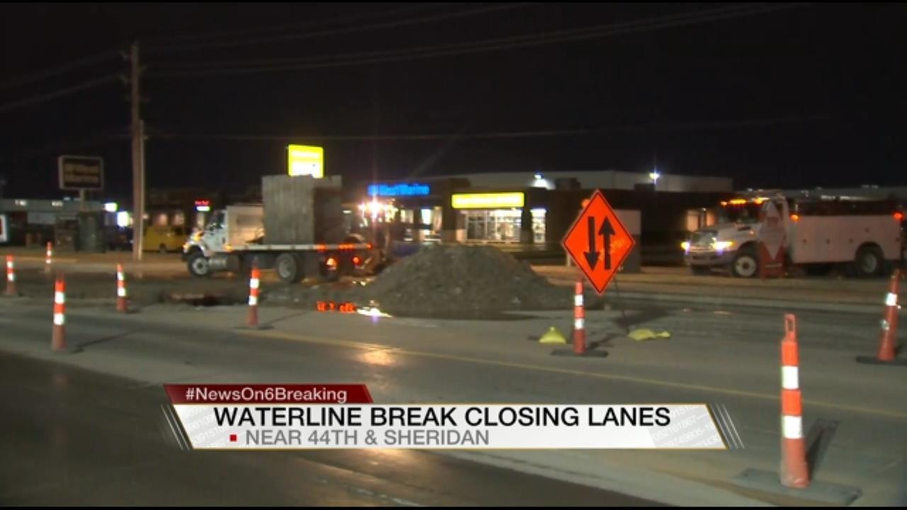 Broken Water Main Closes Part Of Tulsa Street