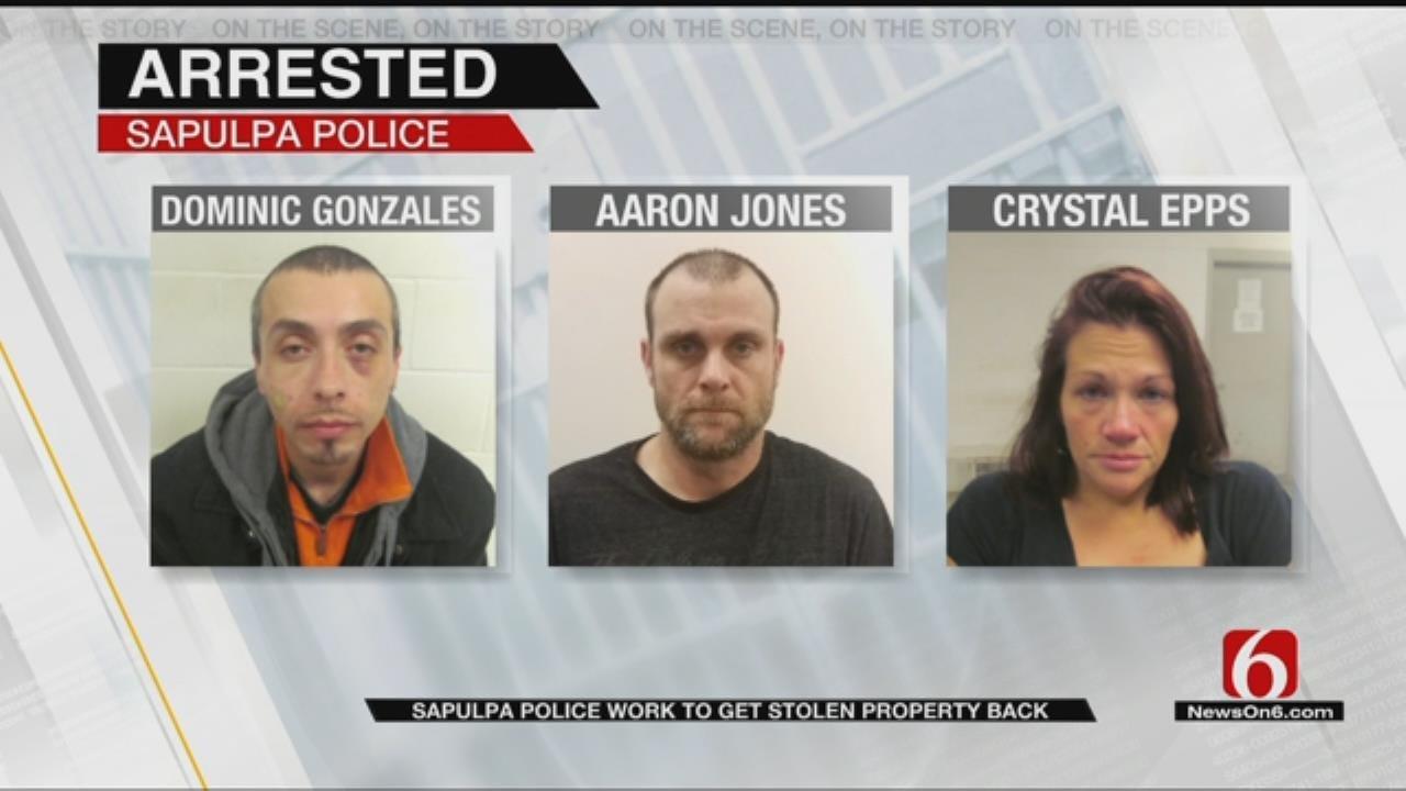 Sapulpa Police Arrest Trio After Finding U-Haul Full Of Stolen Checks
