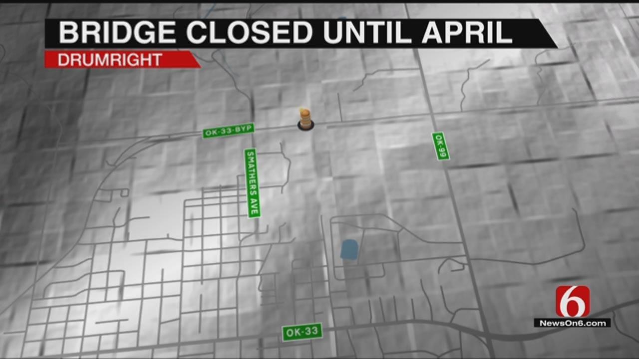 Tiger Creek Bridge Closed For Drumright Drivers