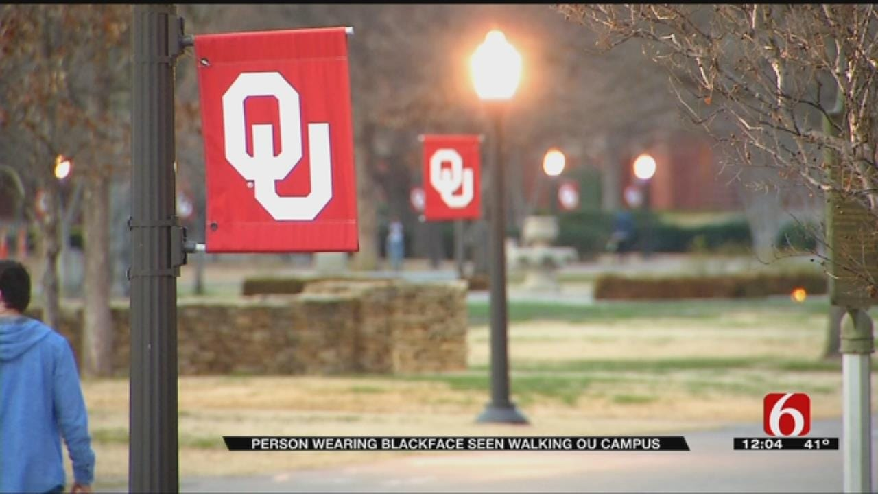 OU Officials Work To Identify Man In Blackface Walking On Campus