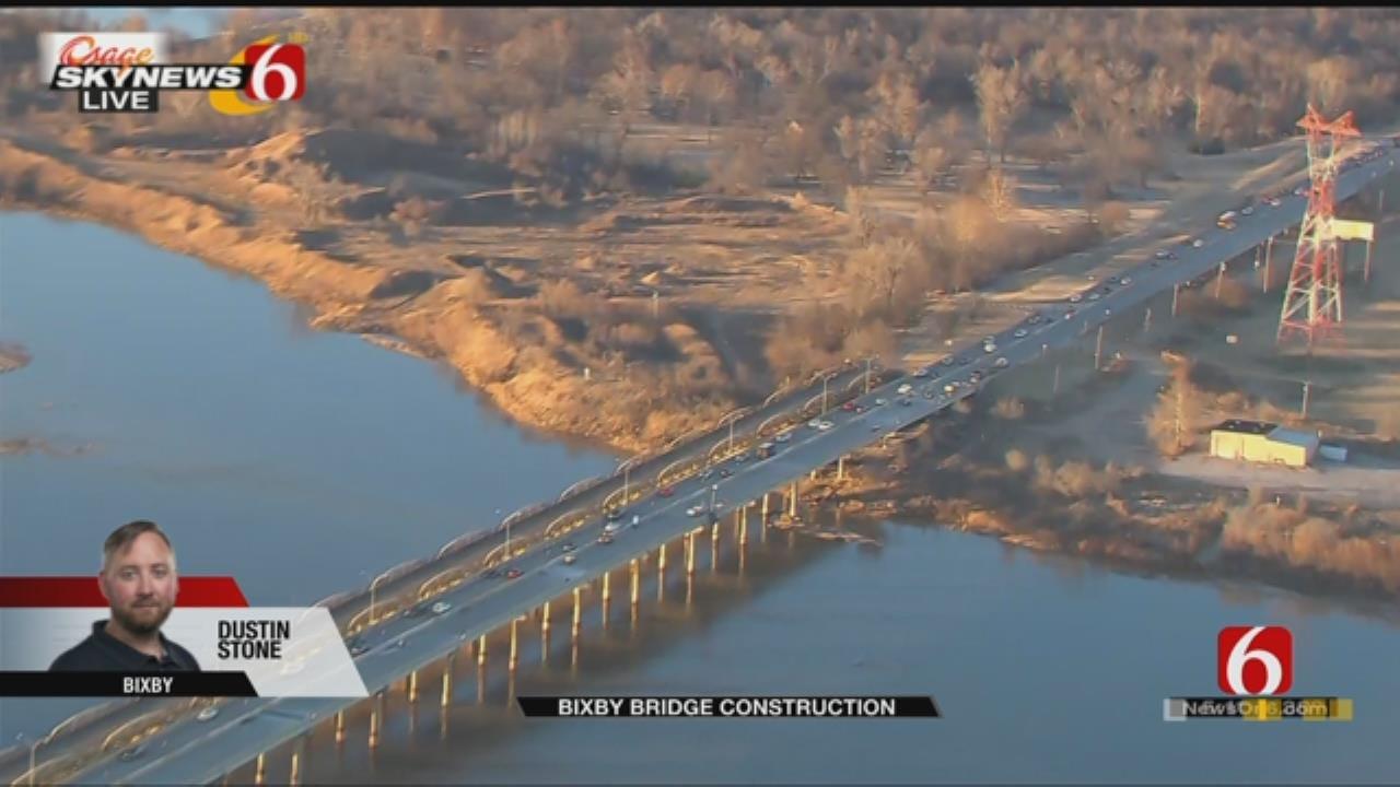 Osage SkyNews 6 HD Flies Over Bixby Bridge Construction