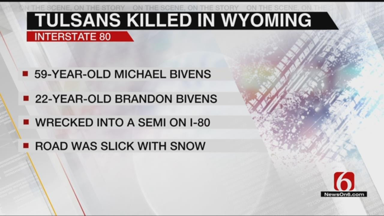 2 Tulsans Killed In Wyoming Crash