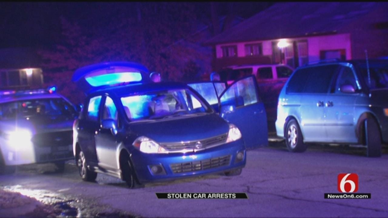 2 Teens Arrested In Stolen Car After Chase In Tulsa