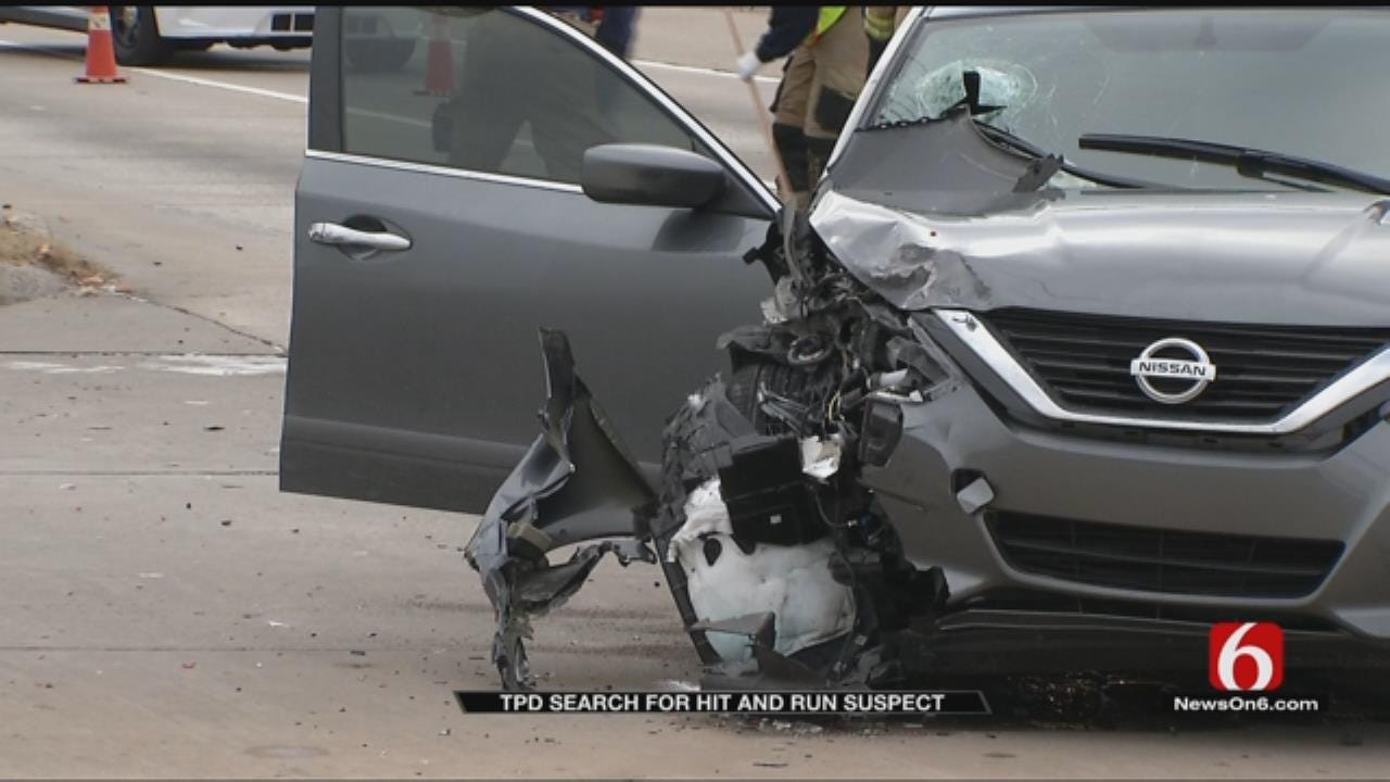 Tulsa Police Search For Hit And Run Suspect