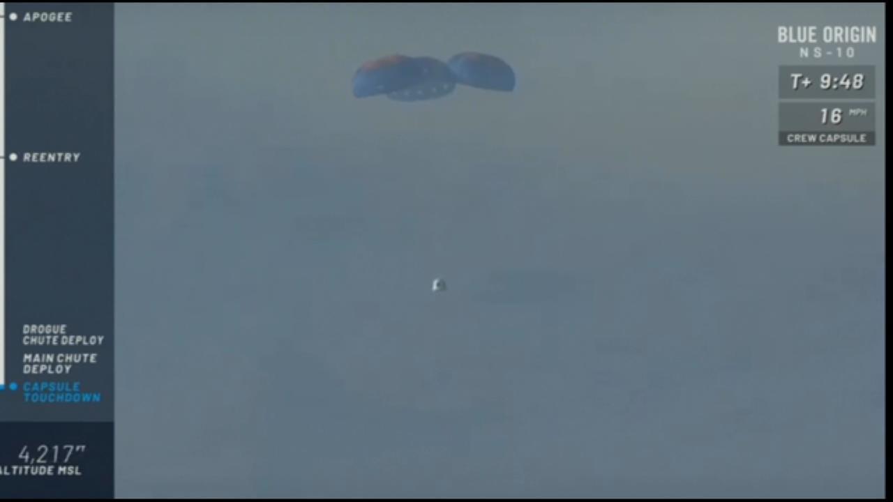 Blue Origin's New Shepard Capsule Makes Perfect Landing