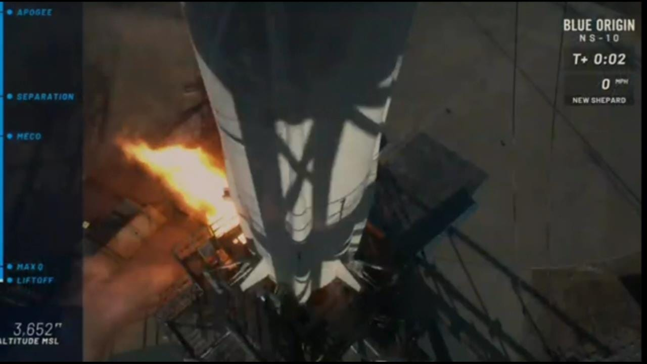 Blue Origin Launches New Shepard Capsule Into Space