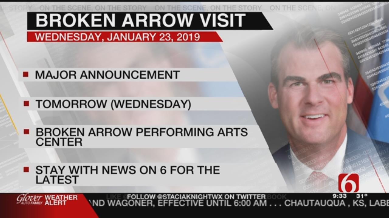 Governor Kevin Stitt To Visit Broken Arrow High School