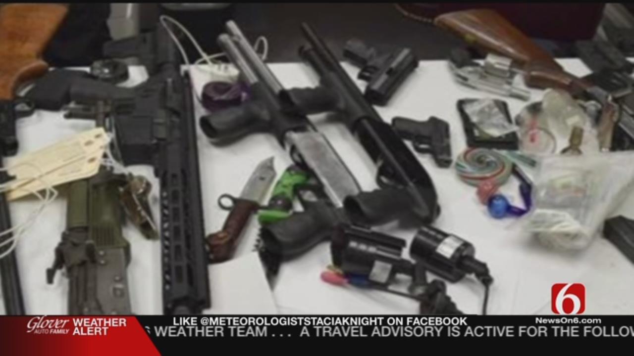 Wagoner Deputies: Felon Possessed Several Stolen Weapons