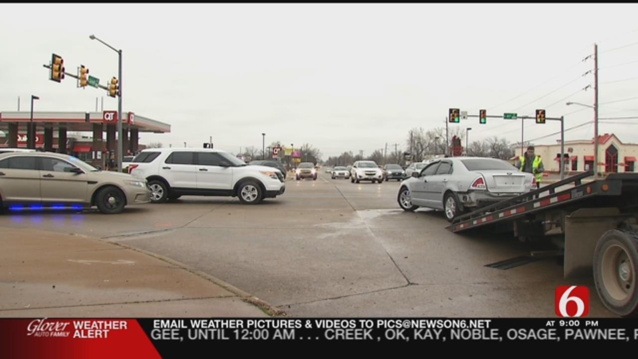 Tulsa Chase Suspect Crashes Stolen Truck