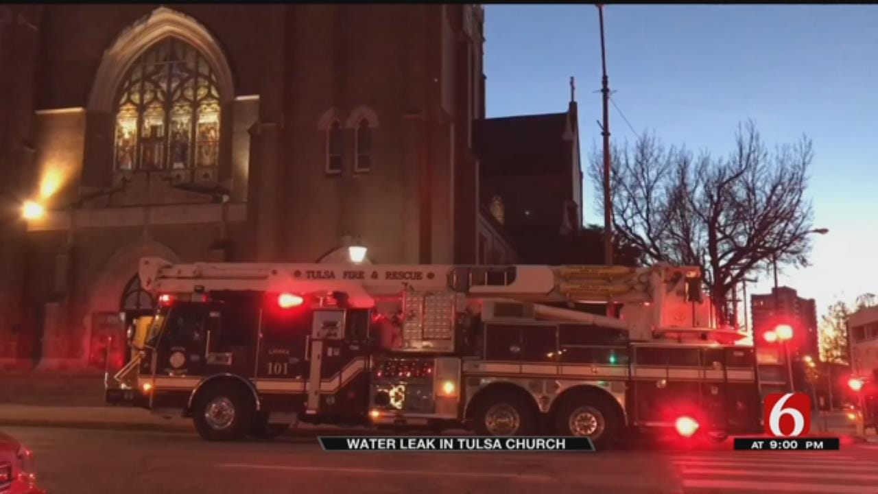 Tulsa Fire Responds To Water Leak In Holy Family Cathedral