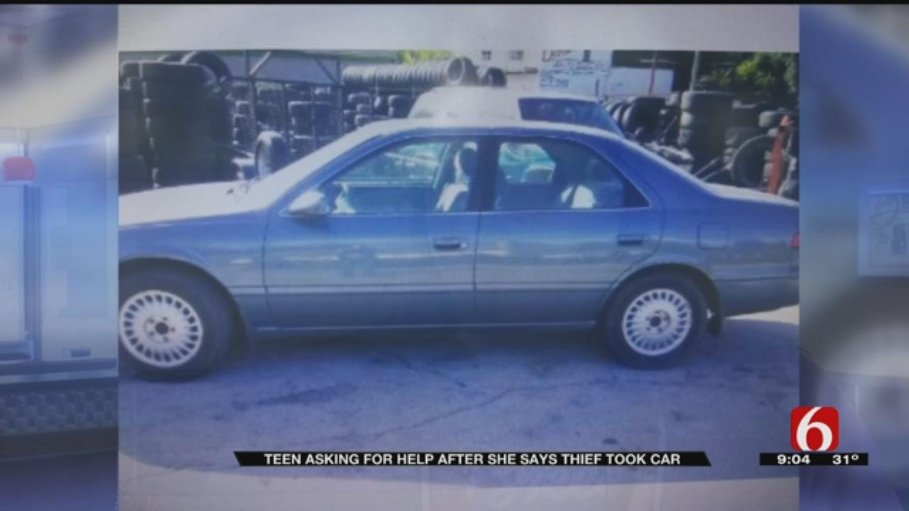 Sand Springs Teen Asks For Help After Her Car Is Stolen From Work