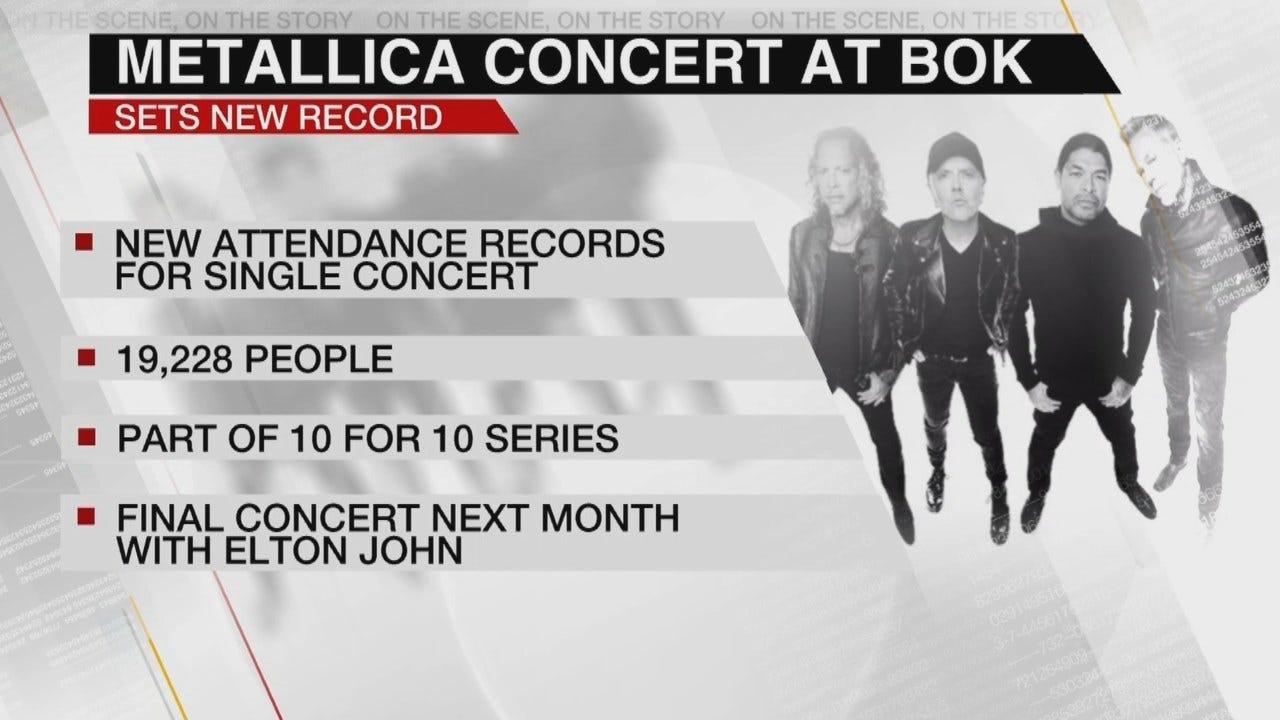 Metallica Concert Breaks BOK Center Record
