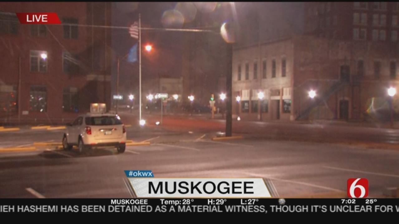 Snow, Wind Blow Through Muskogee