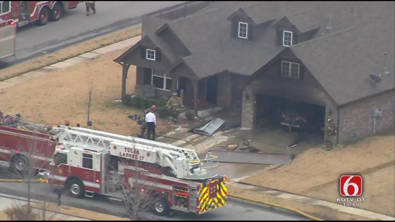 Crews Work To Determine Cause Of Broken Arrow House Fire