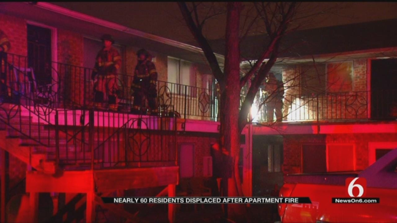 Tulsa Apartment Fire Displaces 60 Residents
