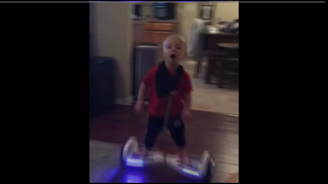 Oklahoma Toddler Shows Amazing Skill In Hoverboard Riding