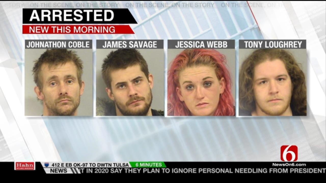 4 Arrested After Tulsa Police Stop Stolen Pickup Truck