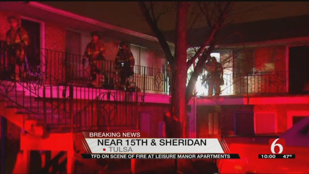 Tulsa Firefighters Respond To Leisure Manor Apartment Fire