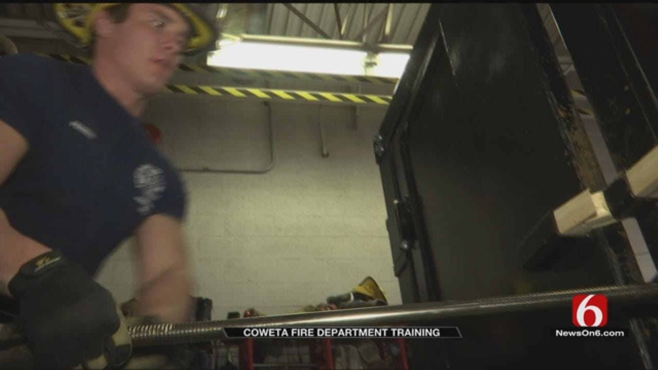 Coweta Firefighters Hone Their Skills With Forcible Entry Training