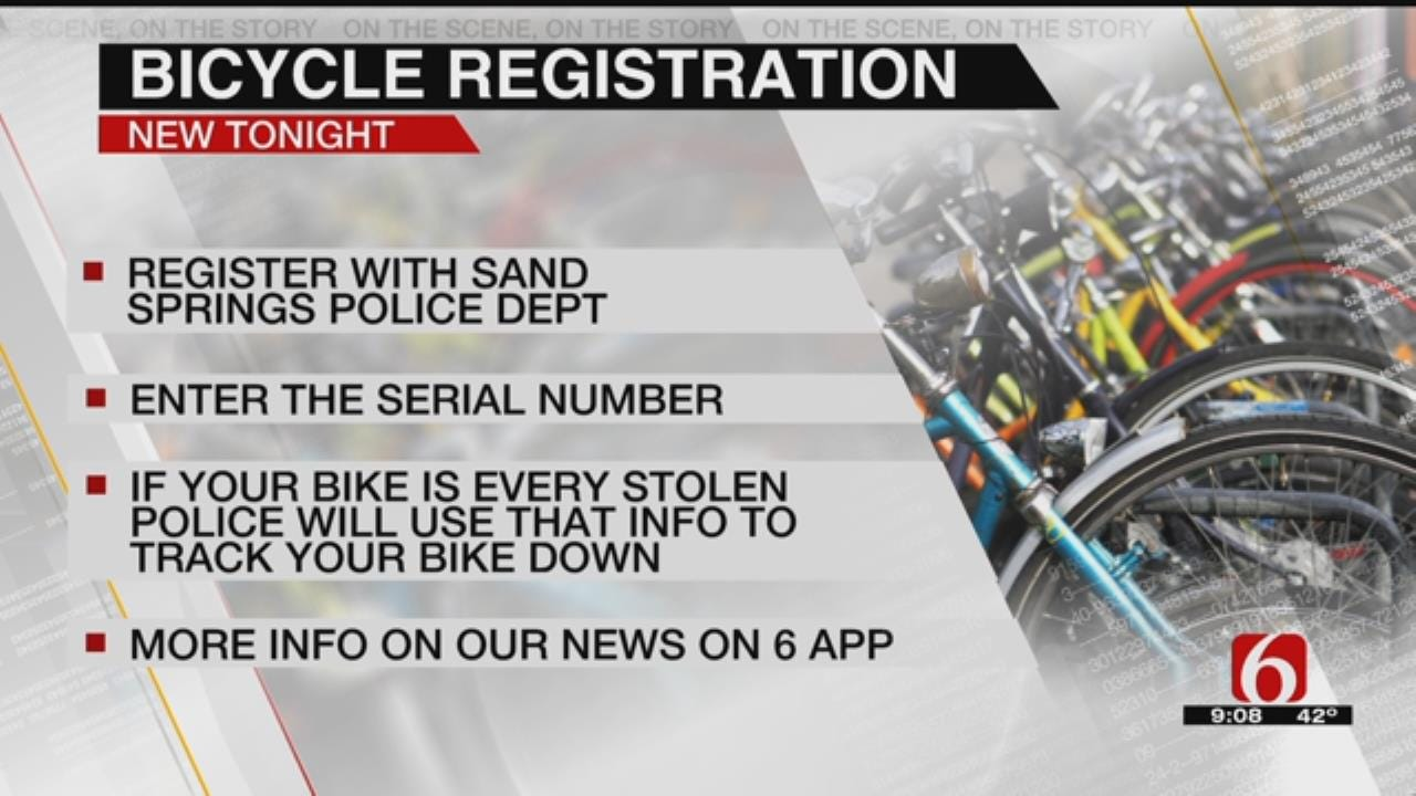 Sand Springs Police Starting Registry For Bicycles