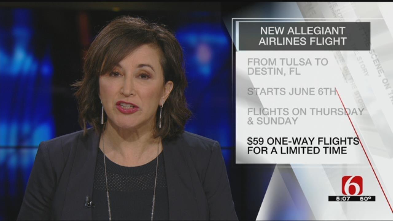 Allegiant Announces New Tulsa Flight To Destin, Florida