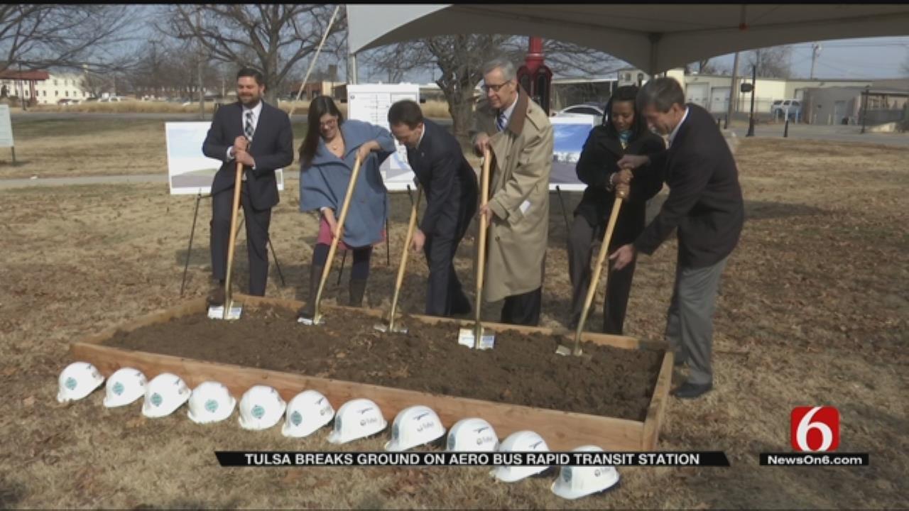 Tulsa Transit Breaks Ground On 'Game Changing' Rapid Transit Station